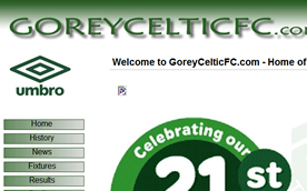 Gorey Celtic Football Club, Aztec Design